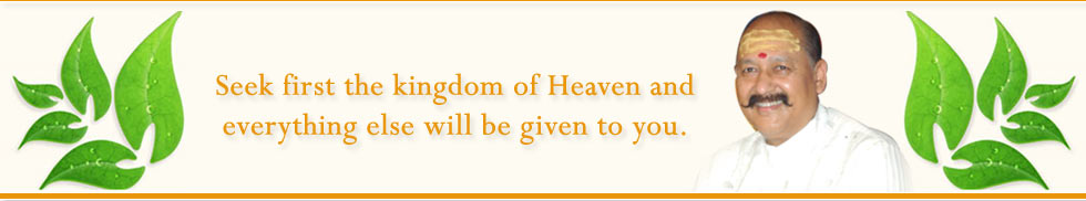 Seek frist kingdom of Heaven and everything else will be given to you